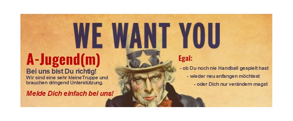 WE WANT YOU!